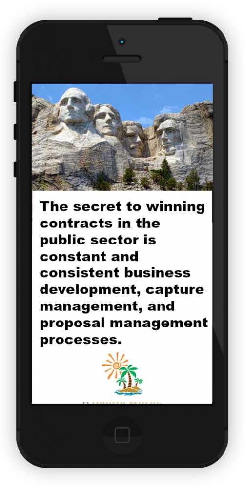 Winning government contracts: The secret to winning government contracts in the public sector is constant and consistent business development, capture management, and proposal management processes.
